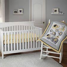 Elephant Crib Bedding Set Little Bedding By Nojo Elephant Time 3 Piece Crib Set Yellow Ebay