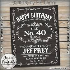 happy birthday sign vintage whiskey themed birthday liquor