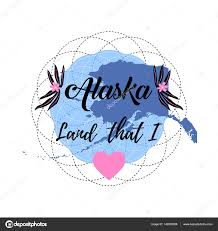 Alaska State Map by Alaska State Map Creative Vector Typography Lettering Composition