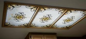Decorative Fluorescent Kitchen Lighting Fluorescent Light Covers Ceiling Panels Absolutely Beautiful