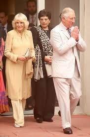 prince charles and camilla touch down in new delhi daily mail online