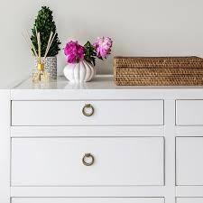 Bedroom Dresser Pulls White Dresser Pulls With Satin Nickel Ring Transitional Bedroom 8