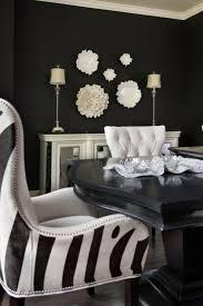 Zebra Dining Chairs Zebra Wingback Chair Contemporary Dining Room Benjamin