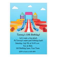 water park party invitations u0026 announcements zazzle