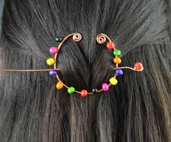 wire wrapped hair accessory family crafts