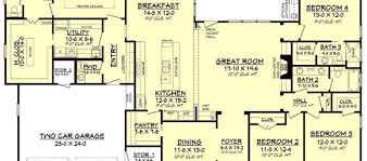 House Plans With Media Room with One Level House Plans House Floor Plans And 4 Bedroom House Plans