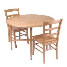 light wood round dining table shop winsome wood hannah light oak dining set with round dining