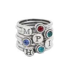 ring with children s birthstones s jewelry for the of four children