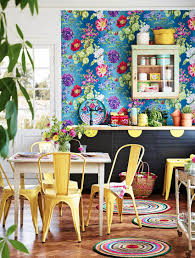 Colorful Furniture by Take Your Home From Blah To Wow With These Bold Wallpapers Homeyou