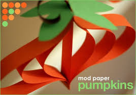 diy craft paper pumpkin ornaments hostess with the mostess