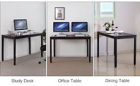 Clean Computer Desk Amazon Com Songmics Office Computer Desk Study Writing Utility