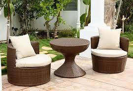 Outdoor Wicker Chairs With Cushions Amazon Com Abbyson Palermo Outdoor Wicker 3 Piece Chair Set