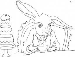 alice wonderland coloring pages tea party coloring pages