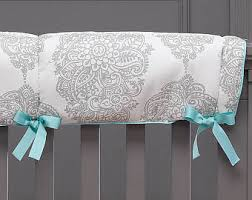 aqua crib bedding etsy