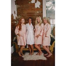 waffle robes for bridesmaids monogrammed bridal kimono robes bridesmaid getting ready