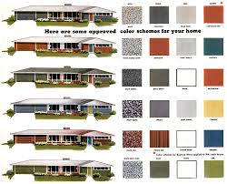 the perfect paint schemes for house exterior mid century ranch