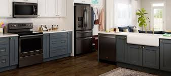 what color appliances with blue cabinets trending new appliance colors in the kitchen