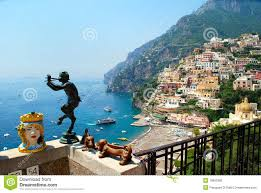 Positano Italy Map by Positano City During Summer Naples Italy Stock Photo Image