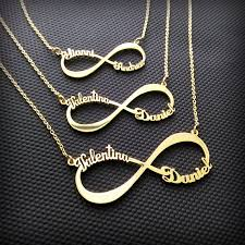 infinity necklace with name 2 name necklace infinity name necklace two name necklace
