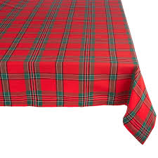 plaid tablecloth free shipping on orders 45