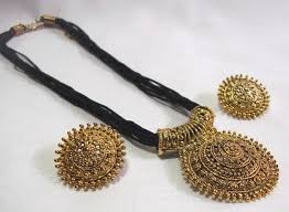 big pendant necklace images Big pendant black thread mangalsutra necklace set jewel jpg