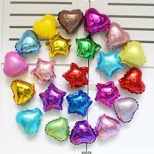 wholesale party supplies wholesale 100pcs lot 5 inch heart shape and aluminum foil