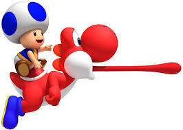 image super mario brothers wii blue toad red yoshi jpg