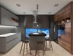 delightfull u0027s mid century lamps shine in open plan kitchen in greece
