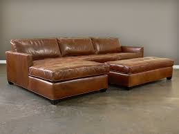 Brown Leather Sectional Sofa With Chaise Furniture Classic Brown Leather Sectional With Chaise