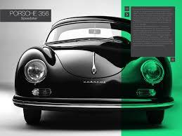 porsche classic speedster interactive book porsche speedster 356 on behance
