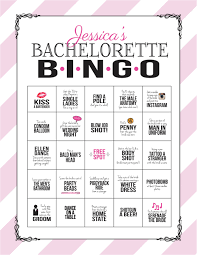 bachelorette party game bingo dare sheet digital file print