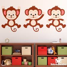 stickers for kids kit 3 monkeys