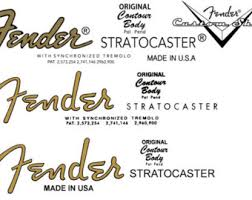 two fender stratocaster 67 70 headstock decals