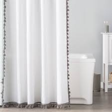 Luxury Shower Curtain White Cotton Shower Curtains Birch Lane
