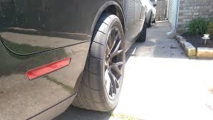 Dodge Challenger Tire Size - wider wheels on the rear srt hellcat forum