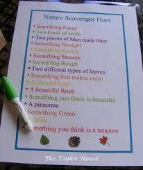 nature scavenger hunt for