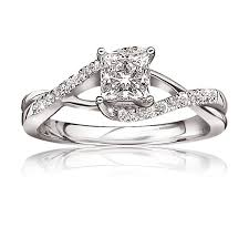 infinity wedding rings princess cut engagement ring ct t w