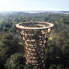 this spiraling treetop walkway in denmark puts every other tree