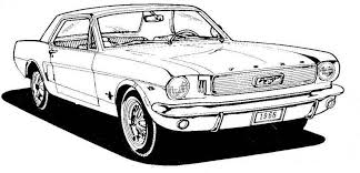 Black Mustang Car Police Car Clipart Image A Black And White The Best Free Library