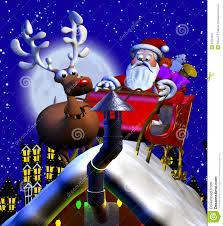 rooftop santa and sleigh royalty free stock photography image