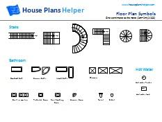free architectural plans free floor plan symbols