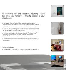 How To Mount Ipad To Wall Amazon Com Padtab 2 The Original Damage Free Universal Tablet