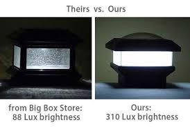 4x4 solar post lights 4x4 solar post cap lights just one light