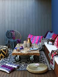 Living Room Floor Seating by Erin Michael Decks Patios Bohemian Bohemian Outdoor Living