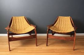 pair of vintage mid century sling chairs by jerry johnson at 1stdibs