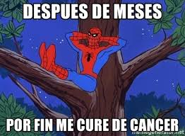 Spiderman Meme Cancer - despues de meses por fin me cure de cancer spiderman tree meme