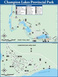 Beaver Lake Map Kootenay Sw Parks Champion Lakes