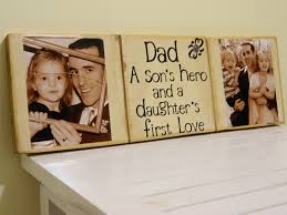 personalized fathers day gift dad a sons hero and a daughters