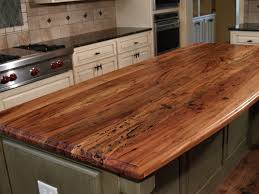 spalted pecan face grain wood island top with waterlox satin