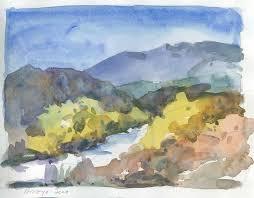arroyo seco path u2013 california watercolor sketch